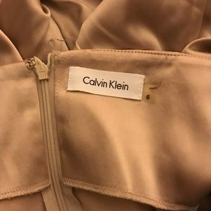 Calvin Klein size 6 champagne cocktail dress